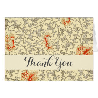 Soft Thank You Floral Art Print Custom Template