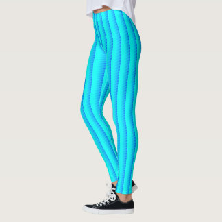 Soft Toned Blue Shade Pattern Leggings