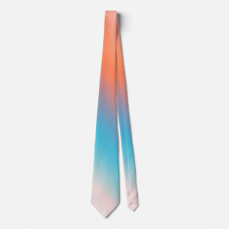 Soft Toned Orange Blue Tie
