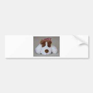 Soft Toy Puppy Bumper Sticker