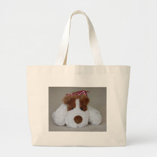 Soft Toy Puppy Large Tote Bag