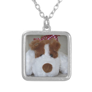 Soft Toy Puppy Silver Plated Necklace