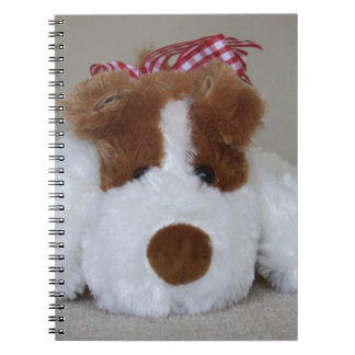 Soft Toy Puppy Spiral Note Book