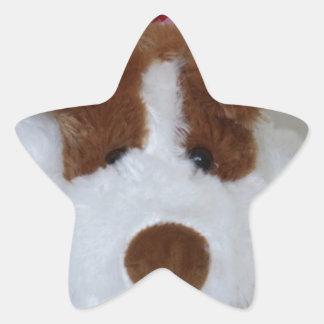 Soft Toy Puppy Star Sticker