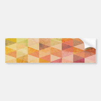 Soft Triangle Geometric Pattern Bumper Sticker