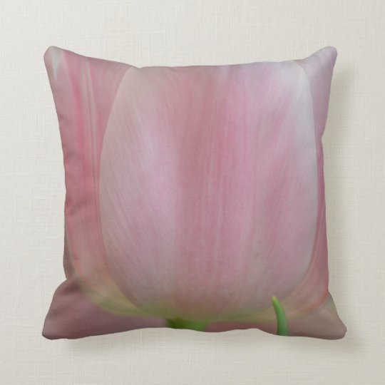 Soft Tulips Throw Pillow