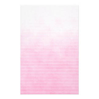 Soft Varigated Pink With Lines Stationery