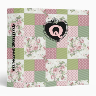 soft vintage roses patchwork quilting pattern 3 ring binders