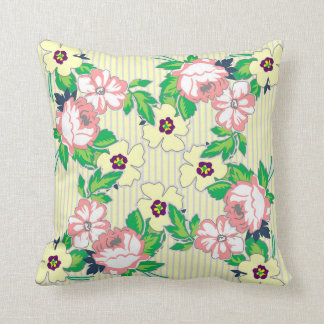 Soft Vintage Roses Pillow