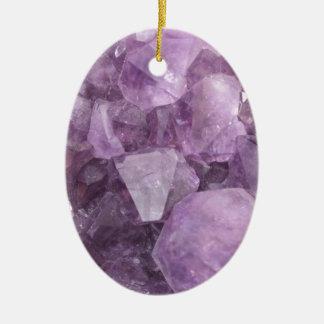 Soft Violet Amethyst Ceramic Ornament