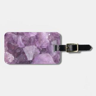 Soft Violet Amethyst Luggage Tag