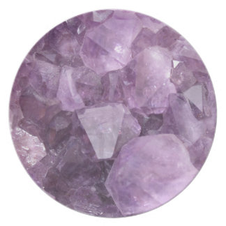 Soft Violet Amethyst Party Plates