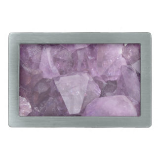 Soft Violet Amethyst Rectangular Belt Buckles
