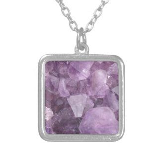 Soft Violet Amethyst Silver Plated Necklace