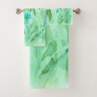 Soft Watercolor Floral Towel Set