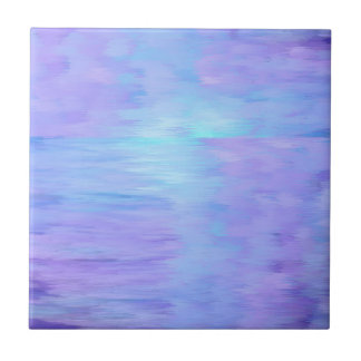 Soft Watercolor purple and turquoise Tile
