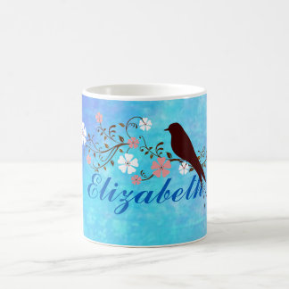 Soft Watercolors in Bright Blue Personalized Coffee Mug