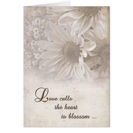 Soft Wedding Daisies Card