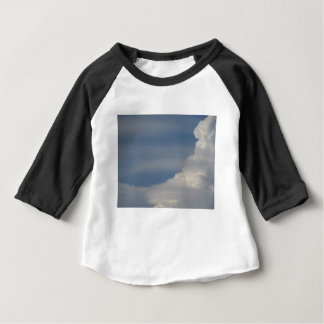 Soft white clouds against blue sky background baby T-Shirt