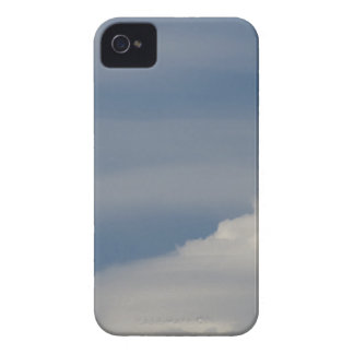 Soft white clouds against blue sky background iPhone 4 Case-Mate case