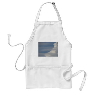 Soft white clouds against blue sky background standard apron