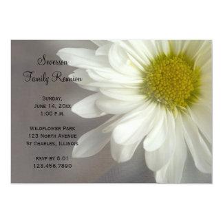 Soft White Daisy Family Reunion Invitation