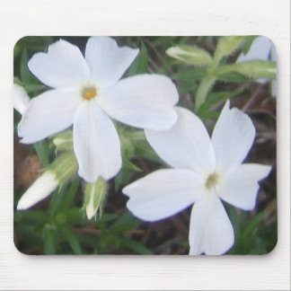 Soft white floral Mousepad