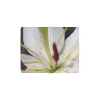 Soft White Lily Up Close Pocket Moleskine Notebook