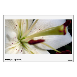 Soft White Lily Up Close Wall Decal