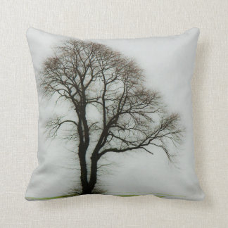 Soft winter tree throw pillow