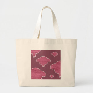 Soft wooly wink sheep canvas bag