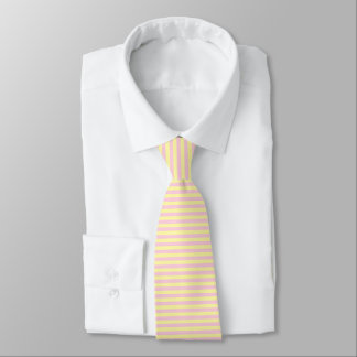 Soft Yellow and Soft Pink Stripes Tie