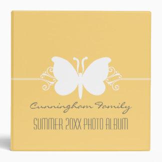 Soft Yellow Butterfly Swirls Binder (2 inch)