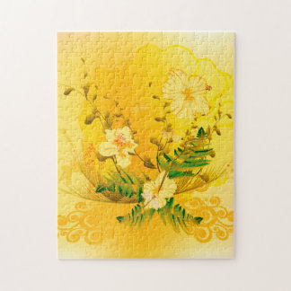 Soft yellow flowers jigsaw puzzle