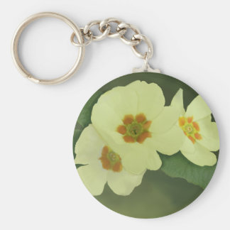Soft Yellow Primrose Flowers Keychain