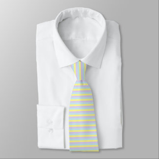 Soft Yellow, Purple and Blue Stripes Tie