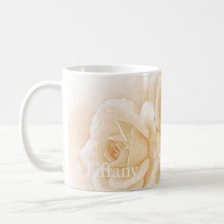 Soft Yellow Roses Personalized Mug