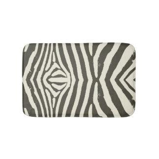 Soft Zebra Print Modern Contemporary Bath Mat