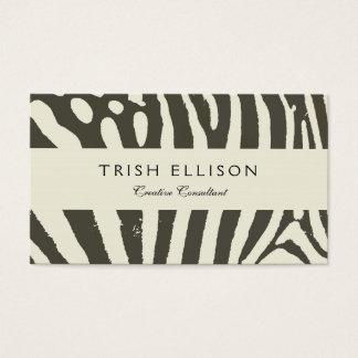 Soft Zebra Print Modern Contemporary Business Card