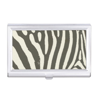 Soft Zebra Print Modern Contemporary Business Card Holder