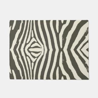 Soft Zebra Print Modern Contemporary Doormat