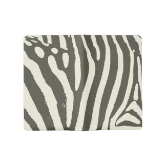 Soft Zebra Print Modern Contemporary Large Moleskine Notebook