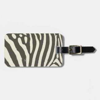 Soft Zebra Print Modern Contemporary Luggage Tag