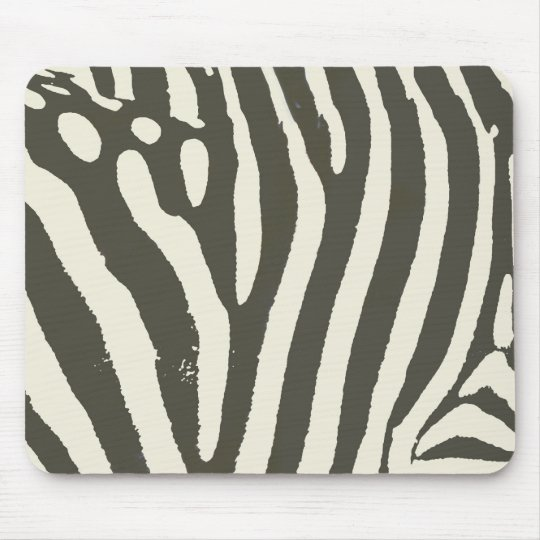 Soft Zebra Print Modern Contemporary Mouse Pad