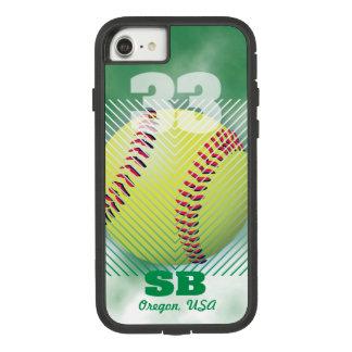 Softball #33 Green Case-Mate Tough Extreme iPhone 8/7 Case