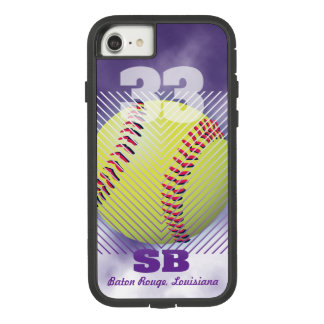 Softball #33 Purple Case-Mate Tough Extreme iPhone 8/7 Case