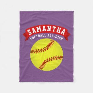 Softball All-Star Fleece Blanket