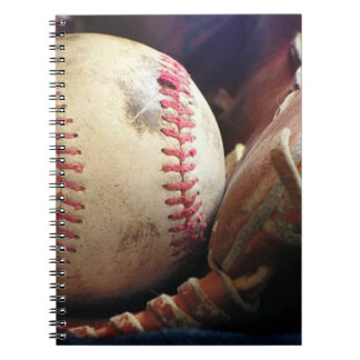 Softball and Glove Notebook