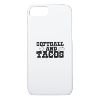 Softball and Tacos Funny Distressed Funny iPhone 8/7 Case