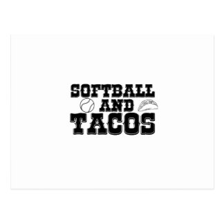 Softball and Tacos Funny Distressed Funny Postcard